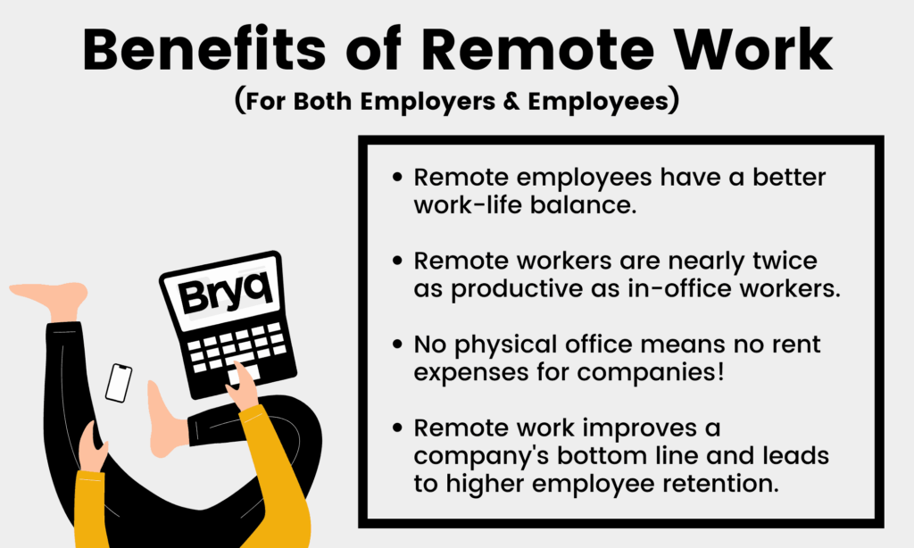 COVID-19 has forced us to reshape the way we perform our jobs. Employees enjoy working from home, and remote work is the new normal.