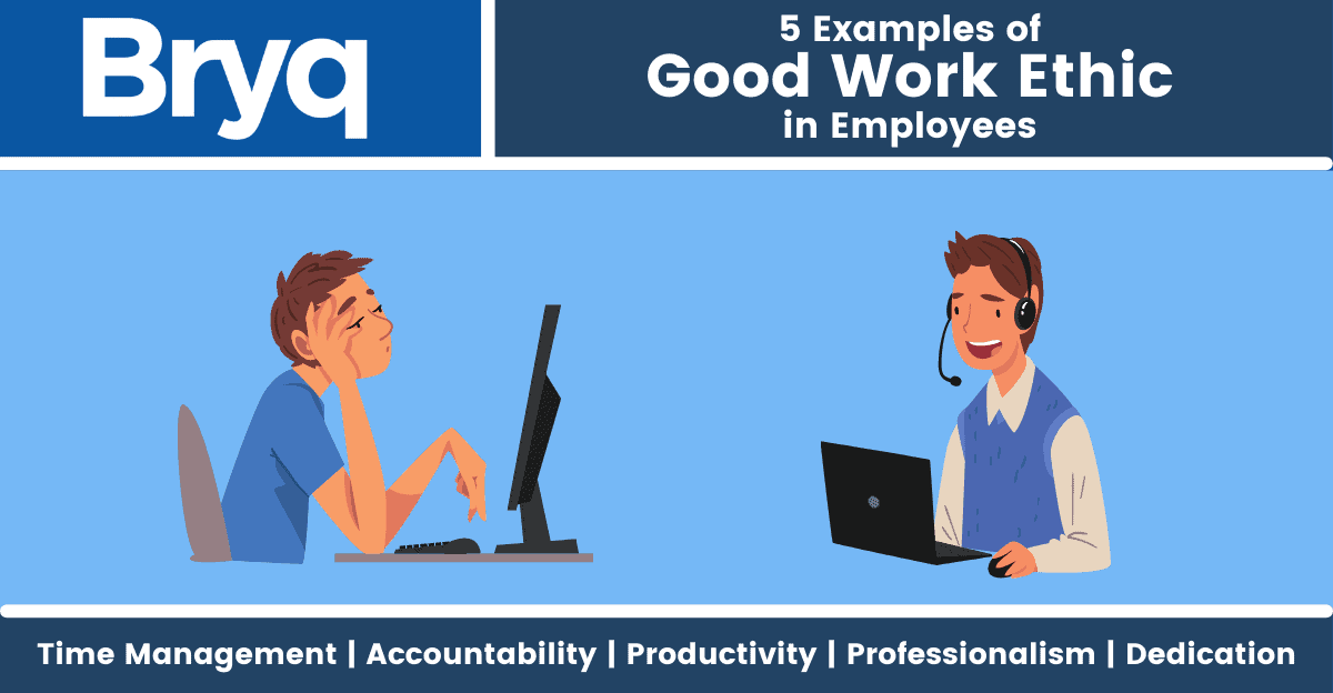 These five examples of good work ethic will help you recognize employees who will go the extra mile for their jobs.