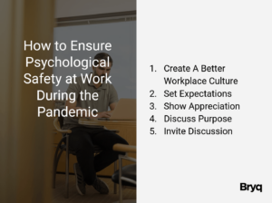 How to Ensure Psychological Safety at Work