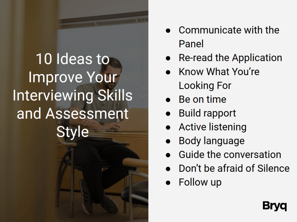 Interviewing Skills and Assessment Style