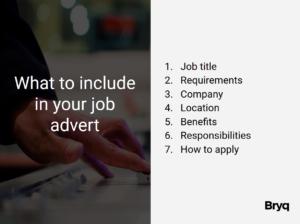 Job advertisment strategy