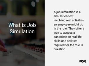 What is a job simulation assessment