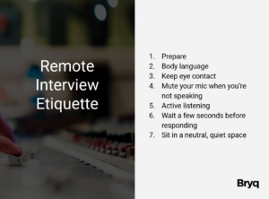 Remote Interview Etiquette