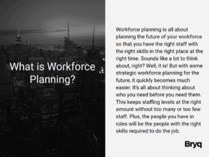 What is workforce planning