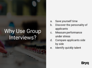 Why use group interviews