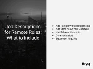 remote hire job description - what to include