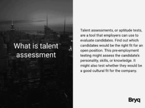talent assessment