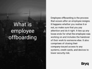 what is employee offboarding